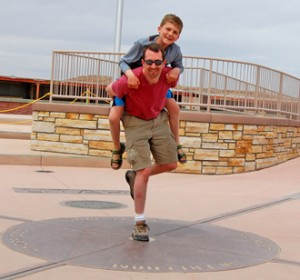 Greg Miliates at Four Corners National Monument