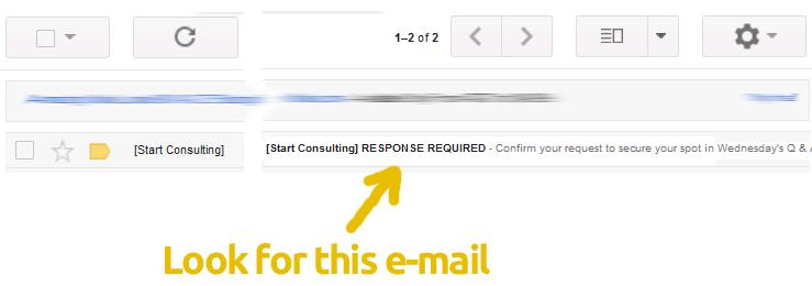 Confirmation e-mail webinar