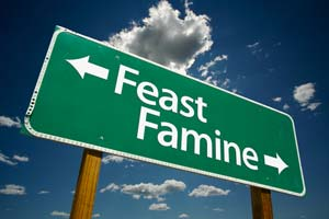 Still struggling with feast or famine? (Or is it a myth?)